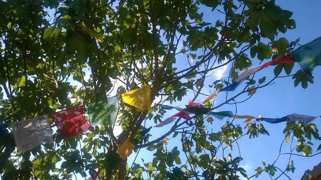 drapeaux de prière à Pondaurat