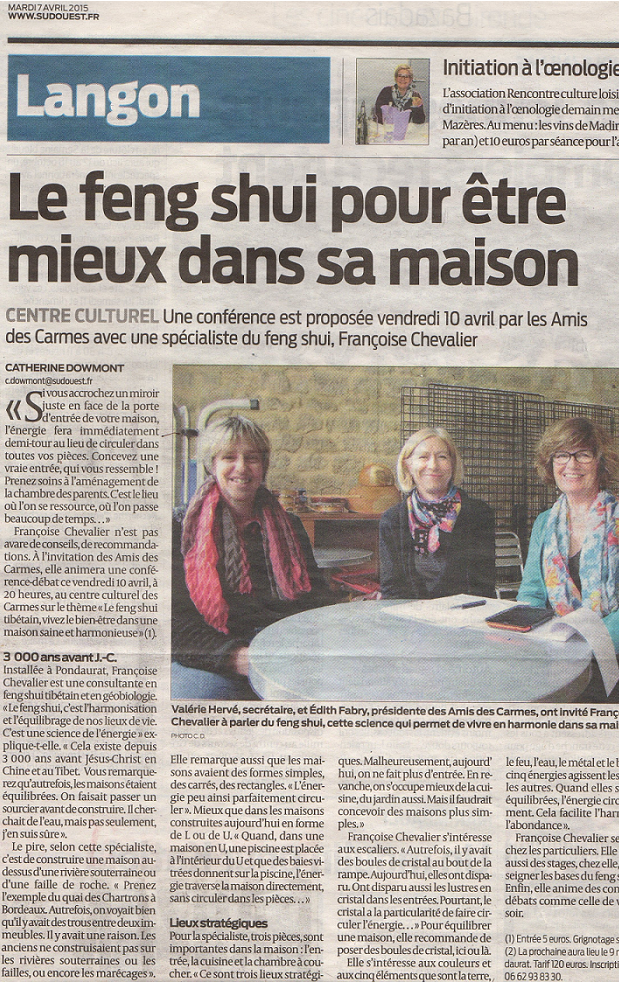 sud ouest 7avrilfengshui