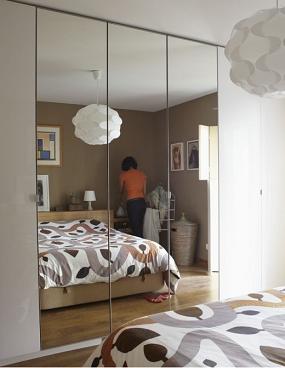 Chambre à coucher Feng Shui, les miroirs le long du lit ...